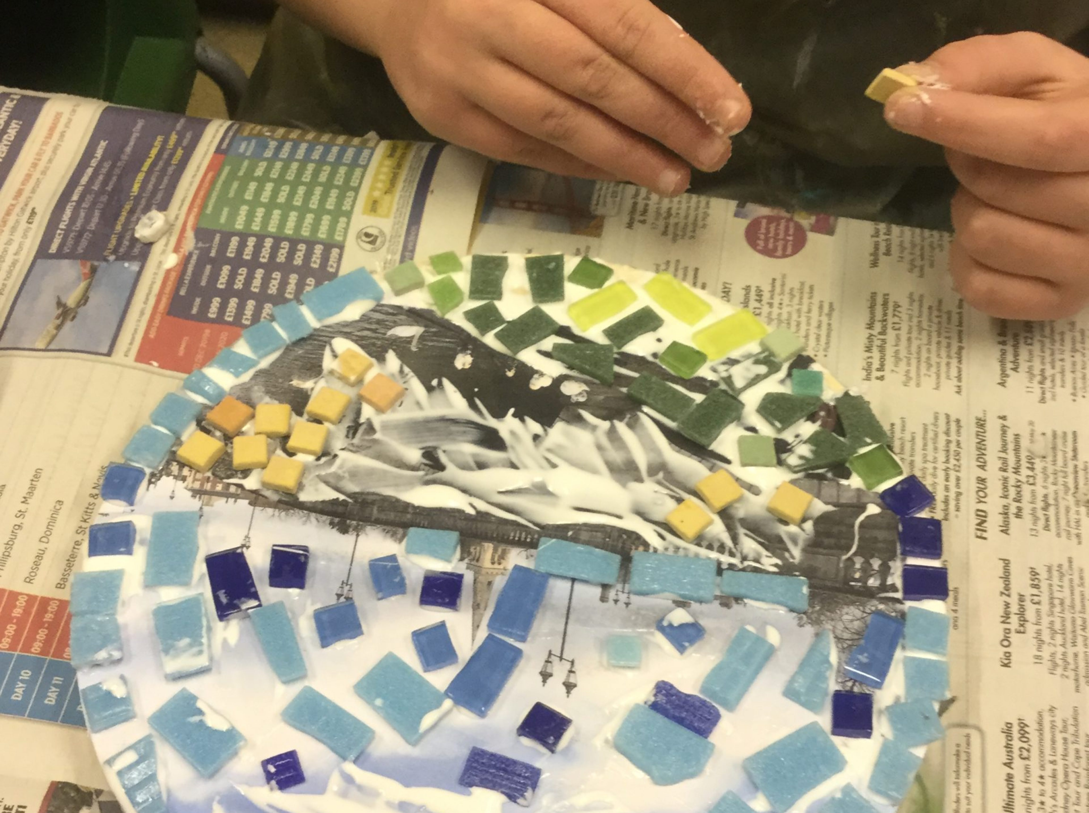 Mosaic competition