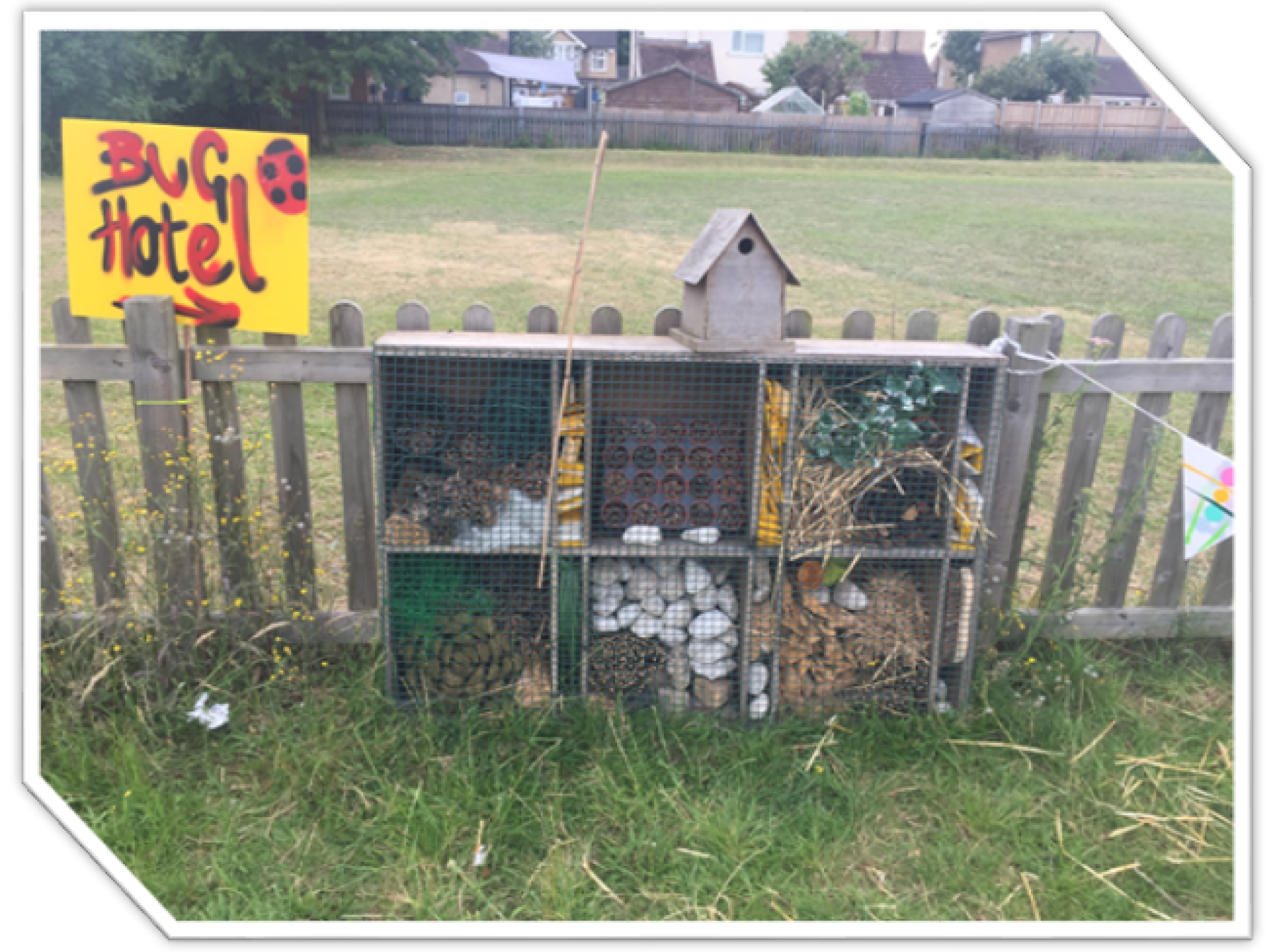 Visiting artists helped our tudents create bespoke creature houses for our sensory garden